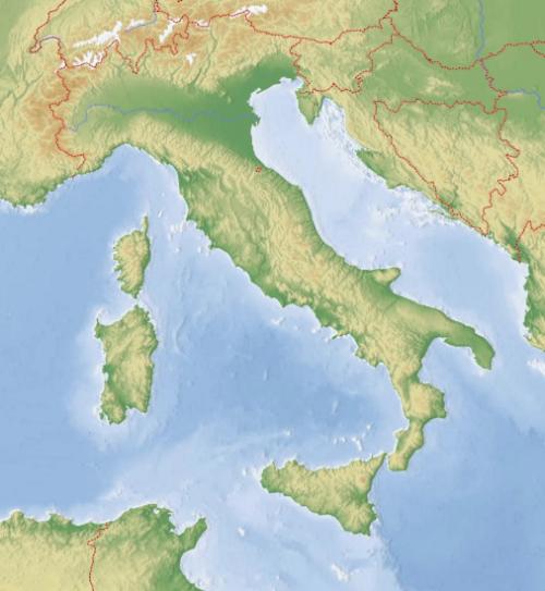 Cartina Italia Solo Confini.Cartina Muta Fisica E Politica Dell Italia Online Da Stampare
