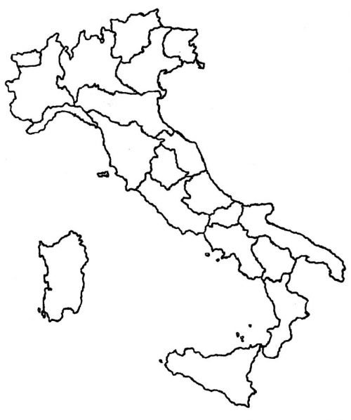Cartina Muta Sardegna Da Stampare.Cartina Muta Fisica E Politica Dell Italia Online Da Stampare Piuscuola