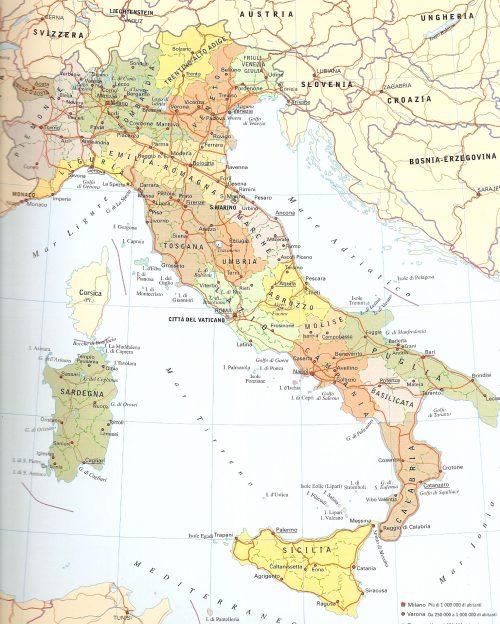 Cartina Italia Per Bambini Da Stampare.Cartina Muta Fisica E Politica Dell Italia Online Da Stampare Piuscuola